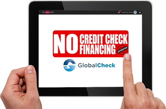 no credit check required for financing with global check call for available options