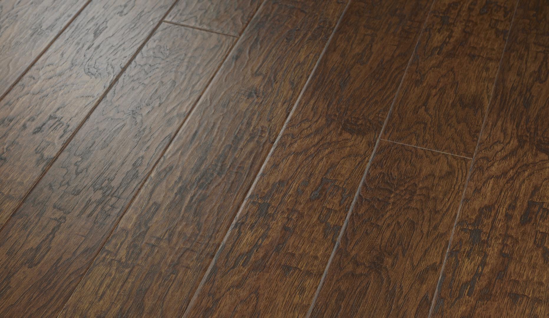 Rustic Gunstock Hickory Laminate Flooring